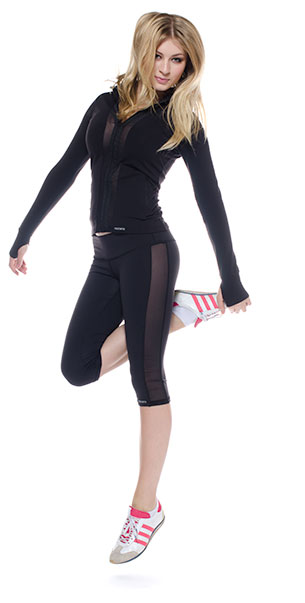 Mesh panel yoga  legging